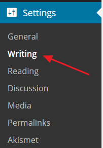 Wordpress Ping List Settings Link